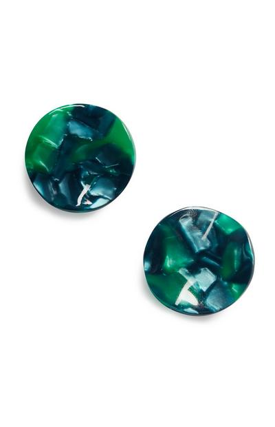 Green Resin Earring