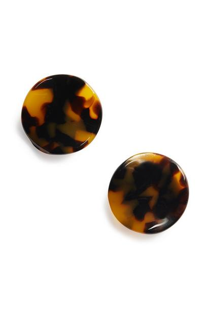 Brown Resin Earring