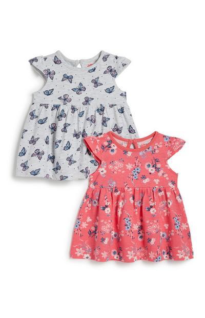 Baby Girl Jersey Dress 2Pk