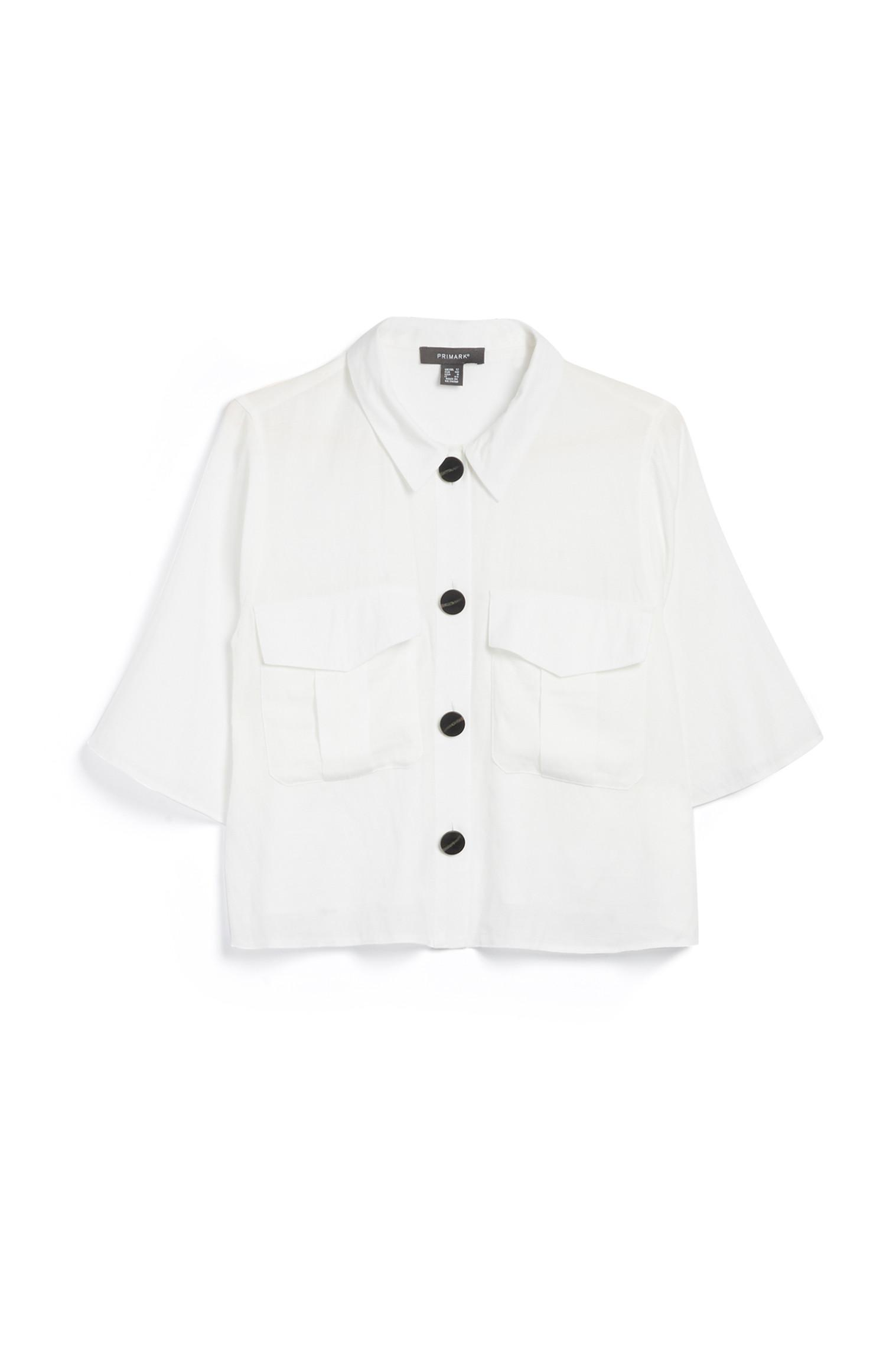 Weißes Utility-Hemd