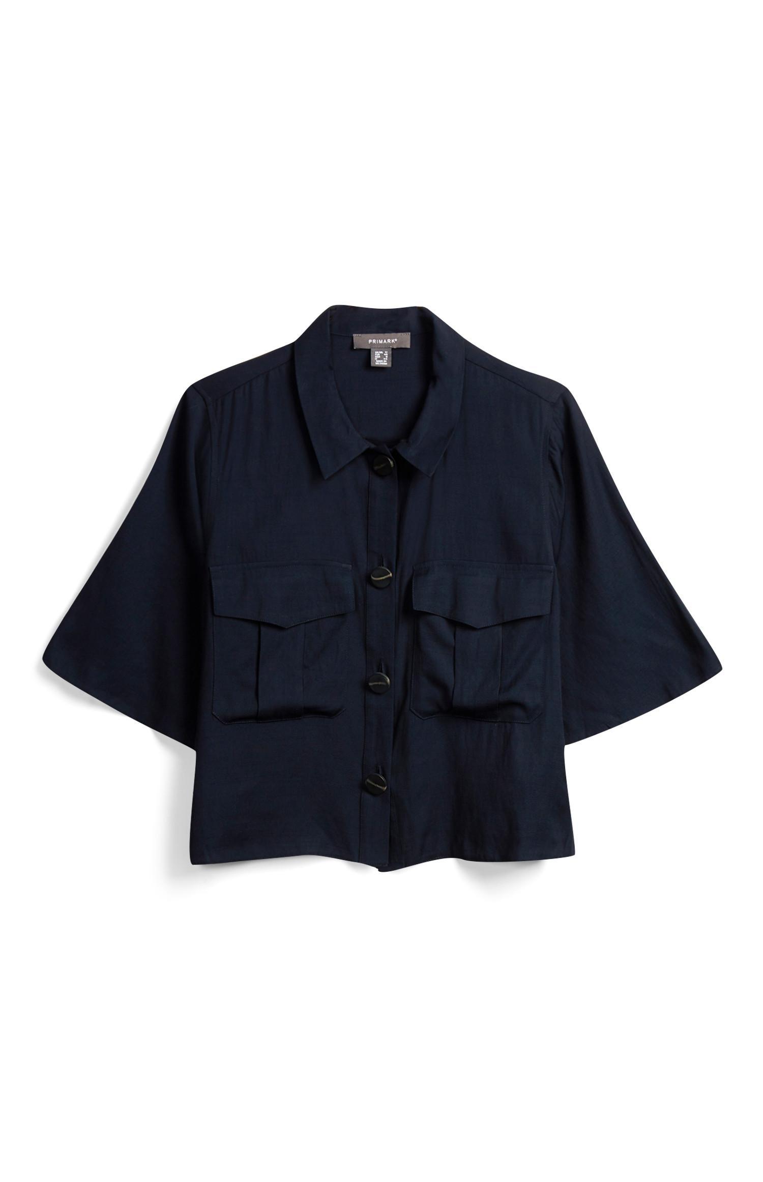Camisa prática azul-marinho
