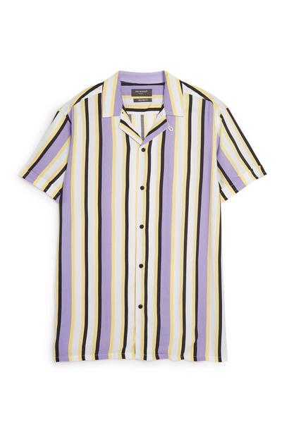 Purple Stripe Co-Ord Shirt