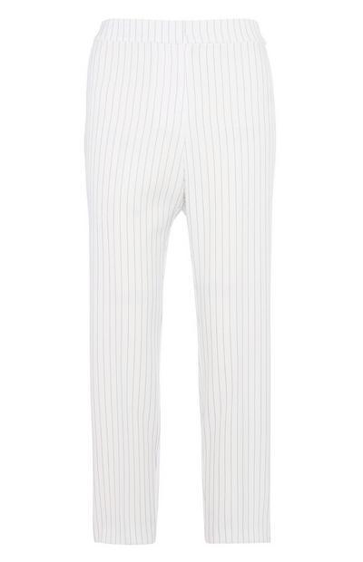 White Pin Stripe Trouser