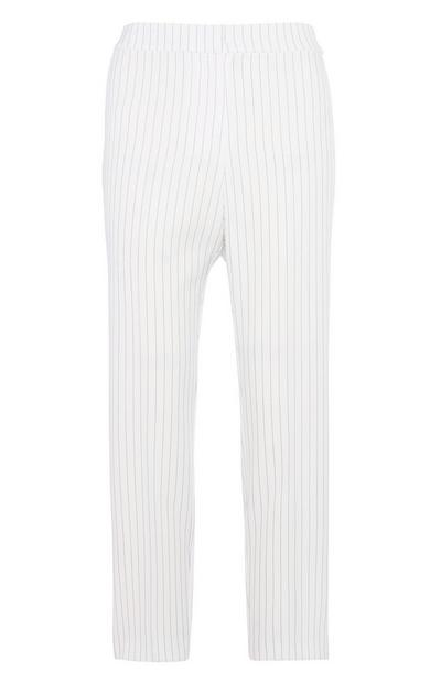 White Pin Stripe Trouser