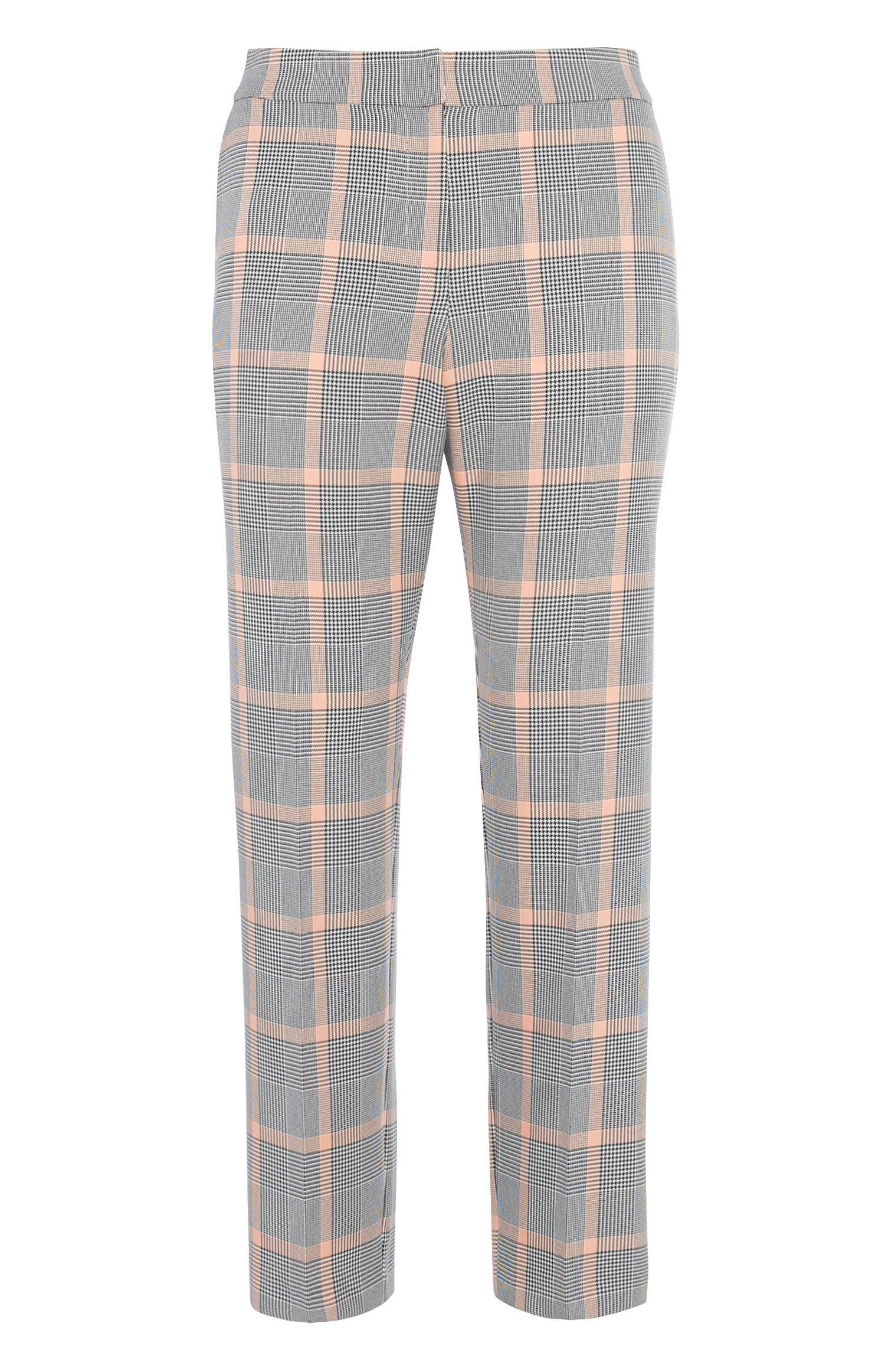 Grey Check Slim Trouser