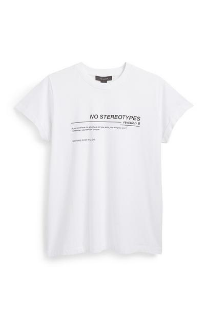 White Slogan T-Shirt