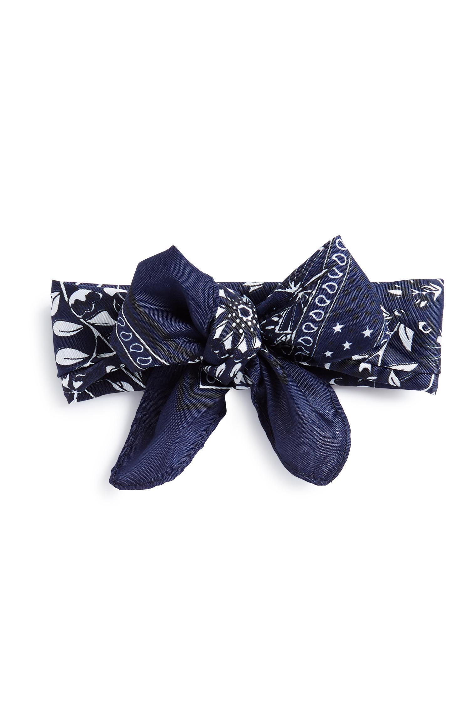 Marineblaues Haarband