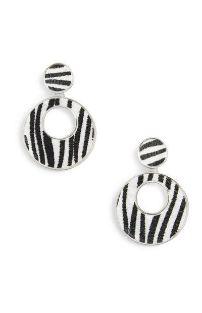 Animal Fur Drop Earrings