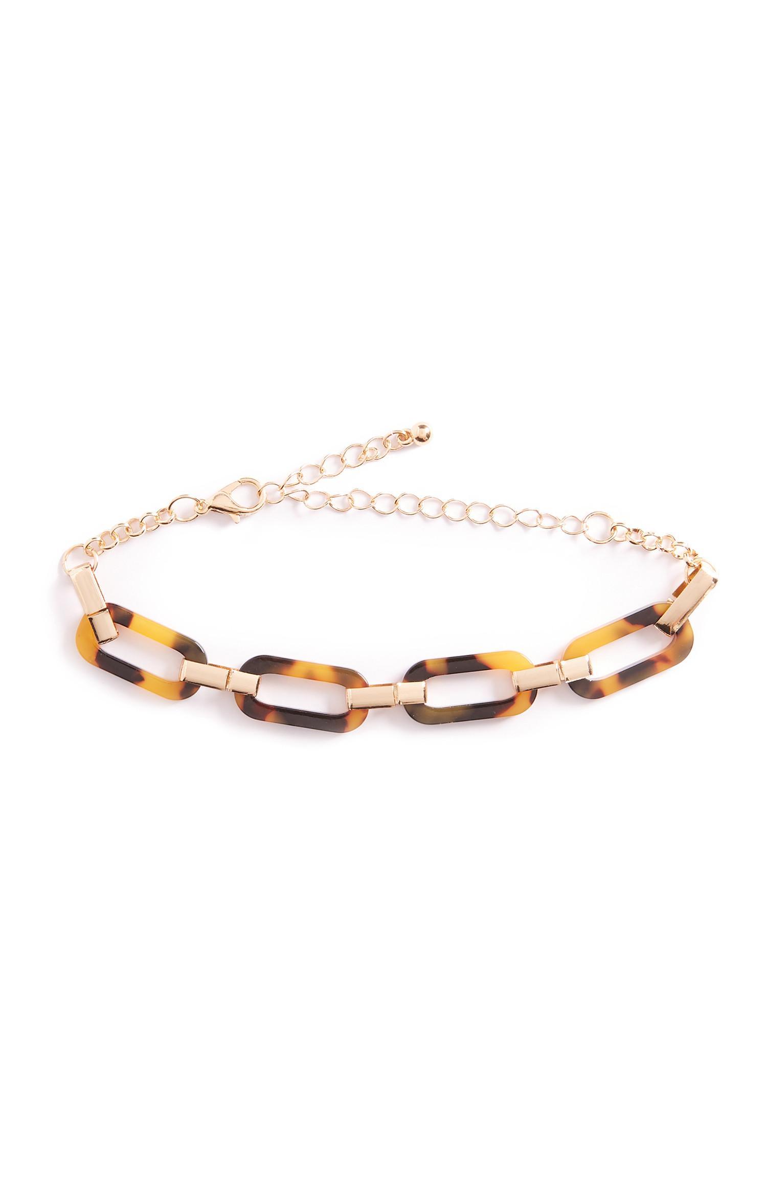 Faux Tortoise Chain Bracelet