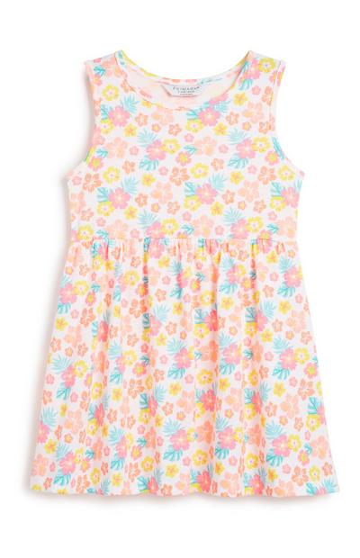 Younger Girl Floral Jersey Dress