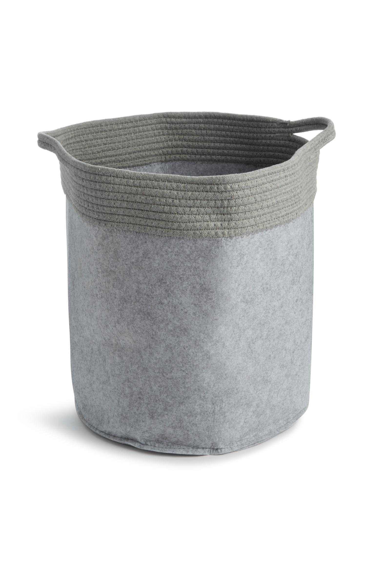 Grey Rope Laundry Bag