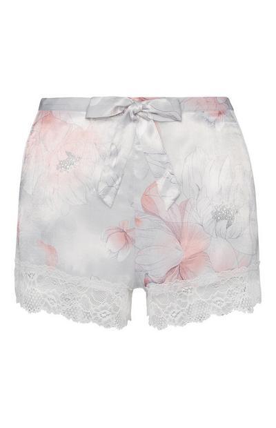Satin Floral Shorts