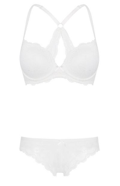 Ivory Bra And Brief Set