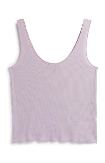 Lilac Ribbed Vest