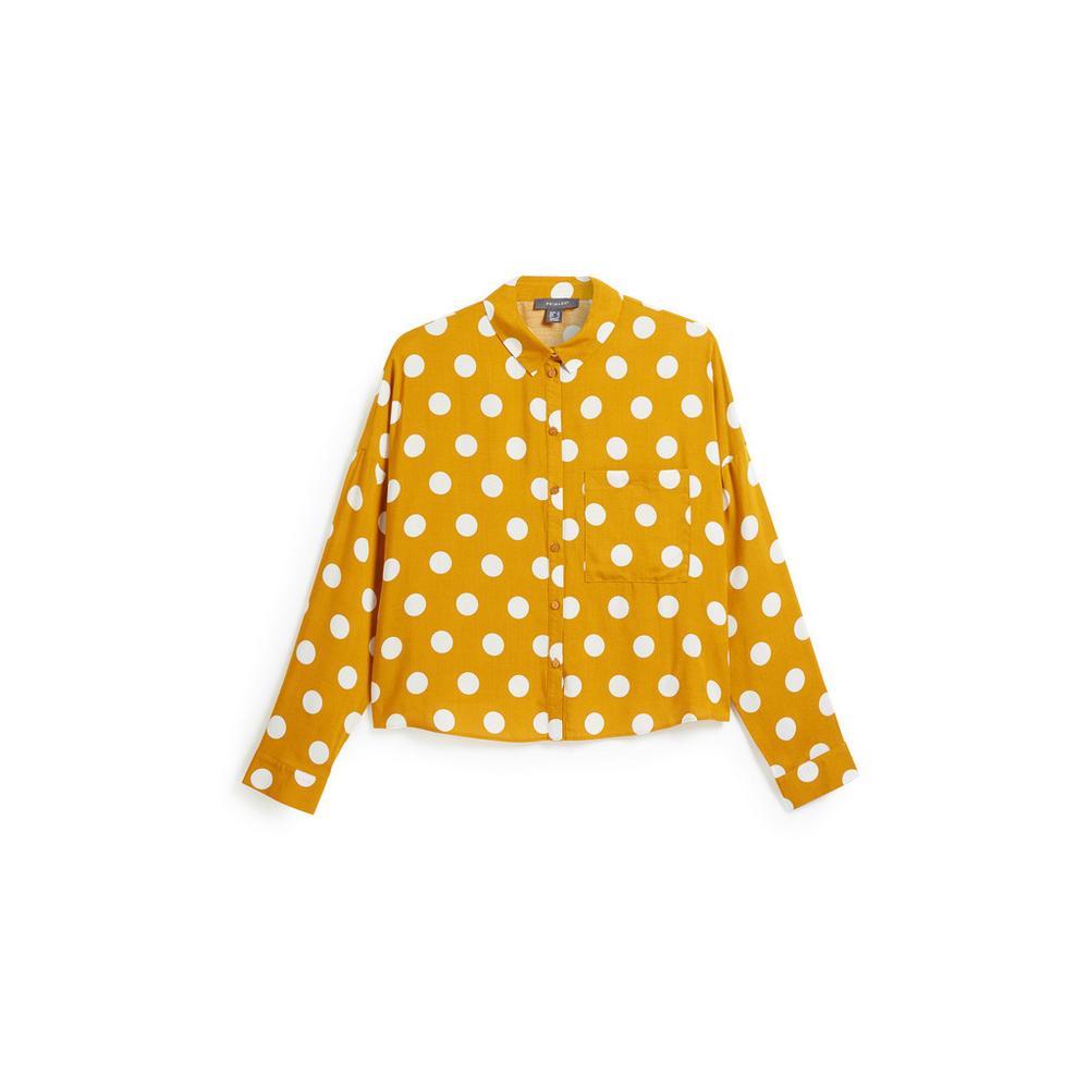 half off 47ecb 4bb84 Camicia corta color senape a pois | Donna | Categorie ...