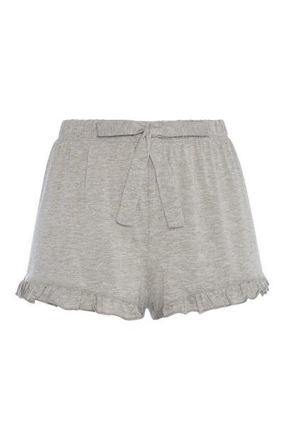 Grey Frill Pyjama Short