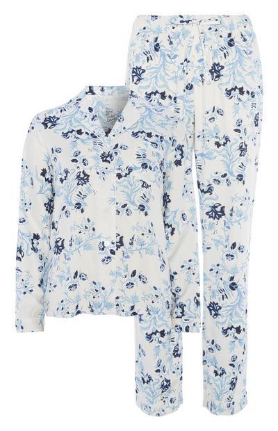 Blue Floral Pyjama Set