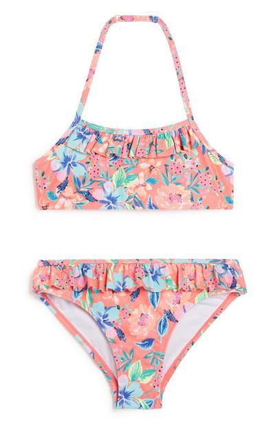 Older Girl Floral Bikini