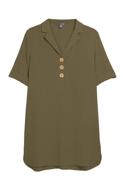 Khaki Tunic Top
