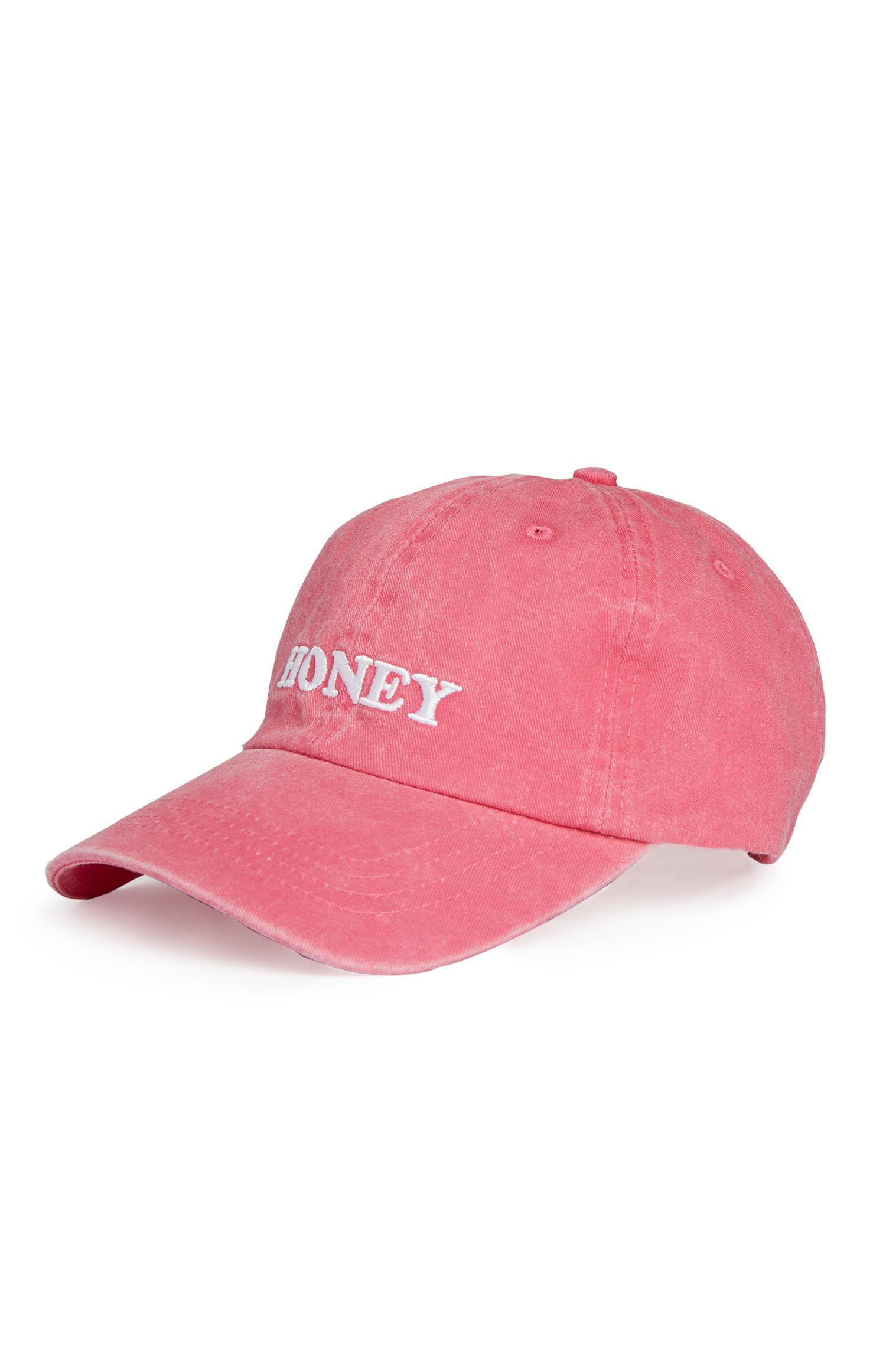 Roze pet met Honey-opdruk