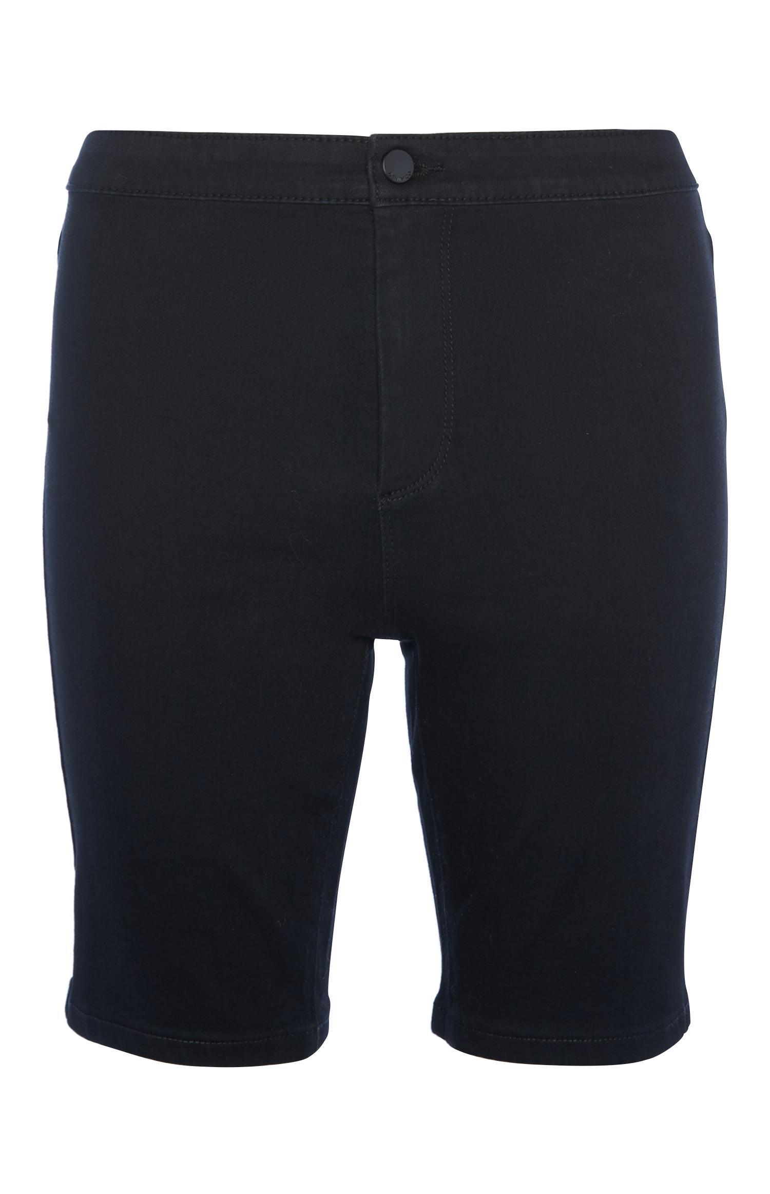 Black Denim Cycle Short