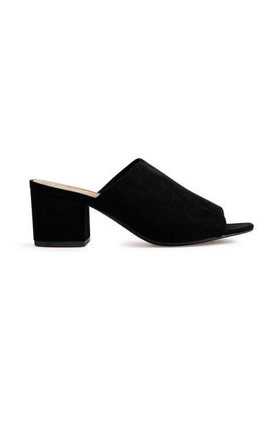 Black Heel Mule