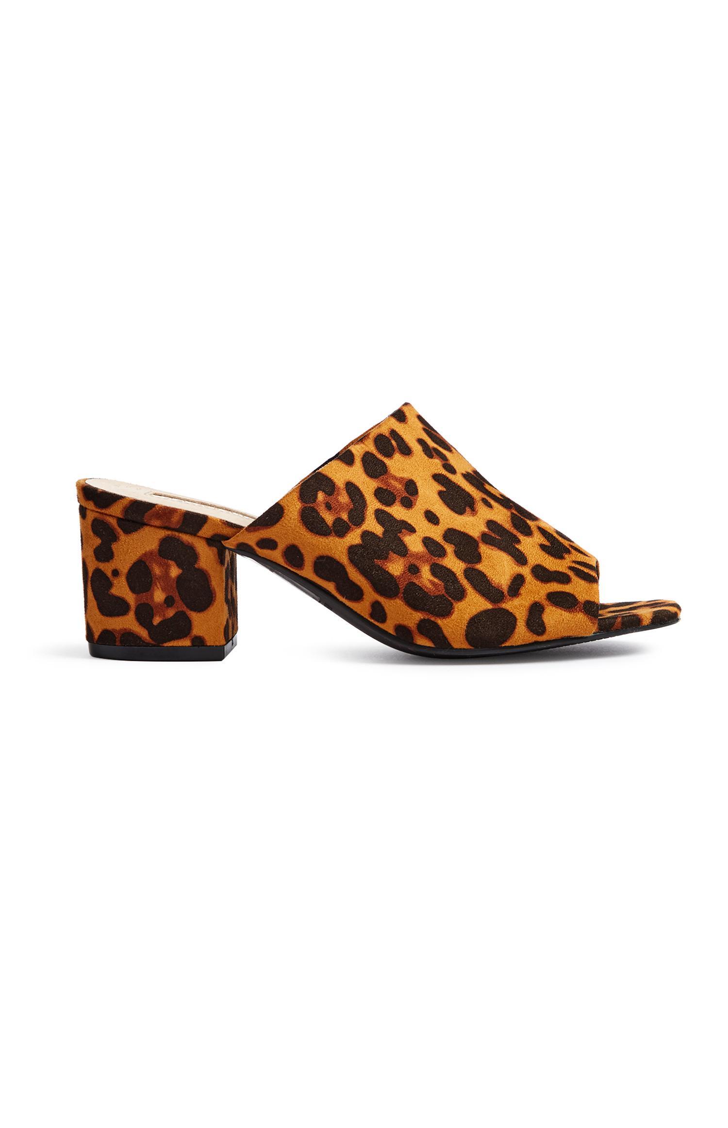 Leopard Print Mule