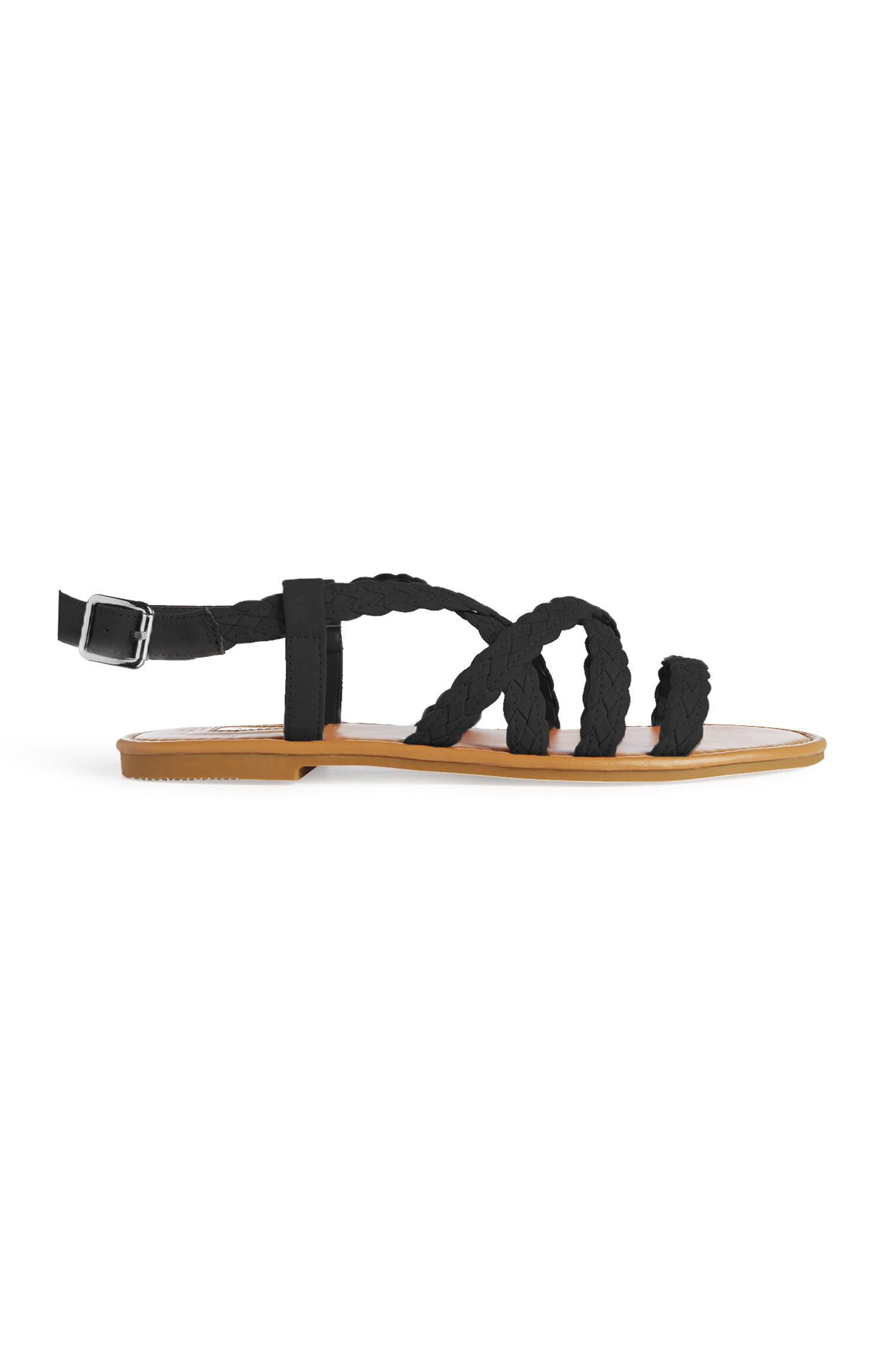 Black Gladiator Sandal