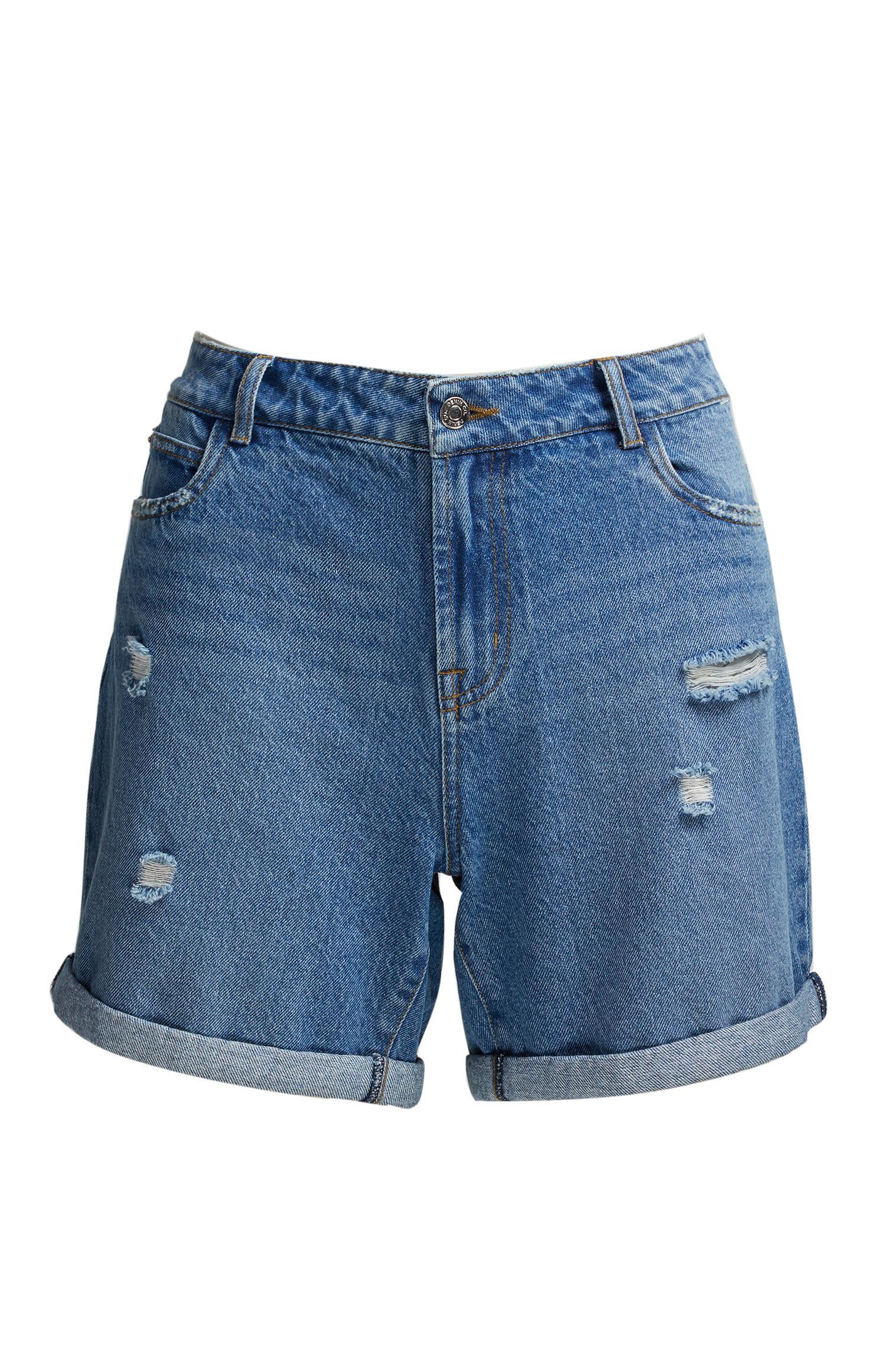 Short boyfriend en jean