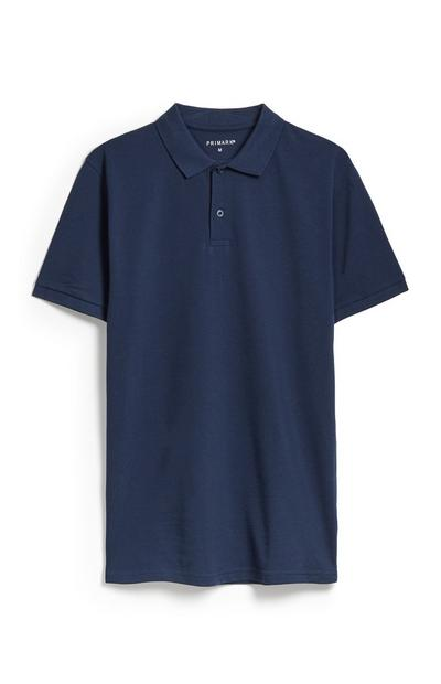 Navy Polo Top