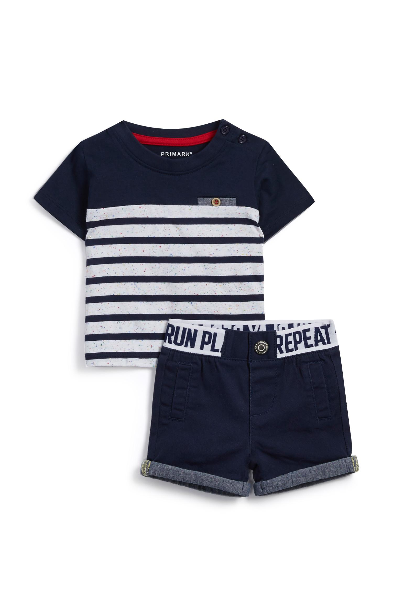 Baby Boy Striped 2Pc Outfit