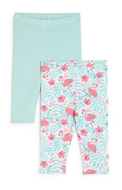 Baby Girl Flamingo Leggings 2Pk