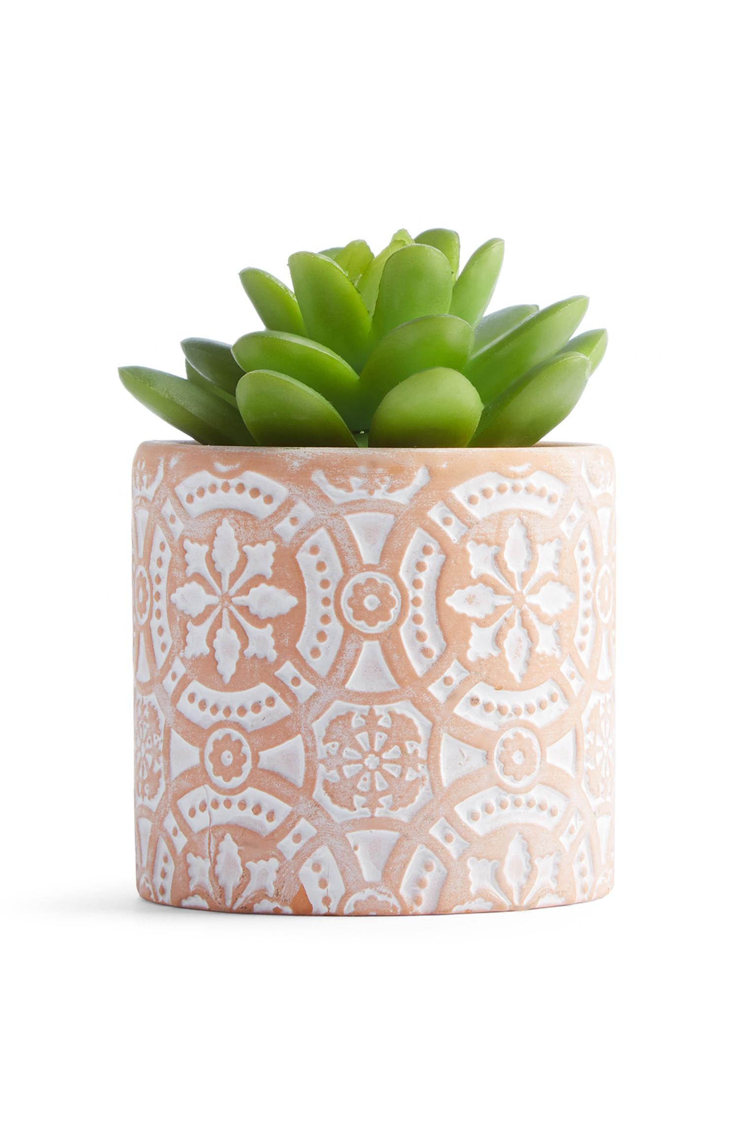 Small Terracotta Faux Plant