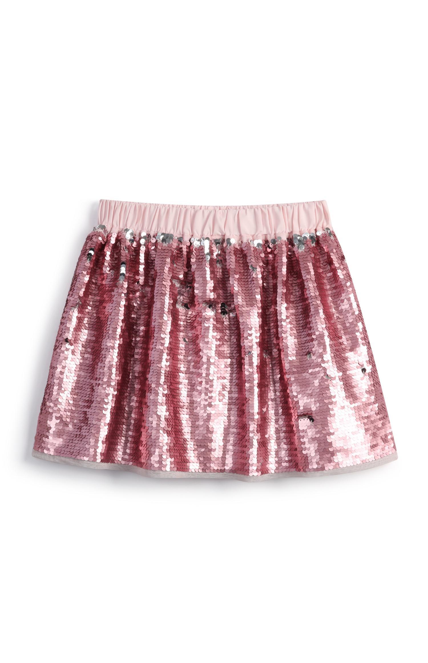 Saia lantejoulas menina cor-de-rosa