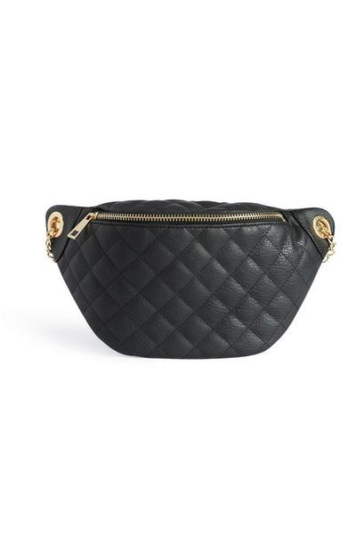 Black Quilted Bum Bag