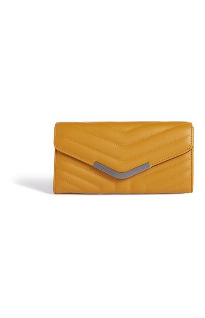 Mustard Quilted Clutch