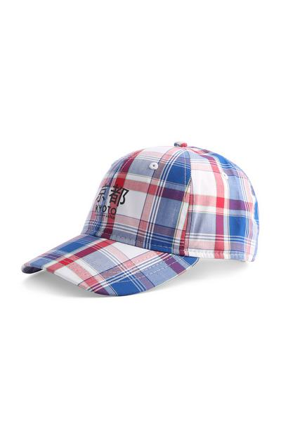 Blue Check Cap
