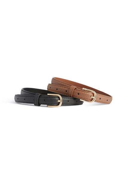 Skinny Belt 2Pk