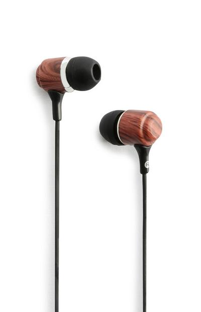 Dark Wood Earphones