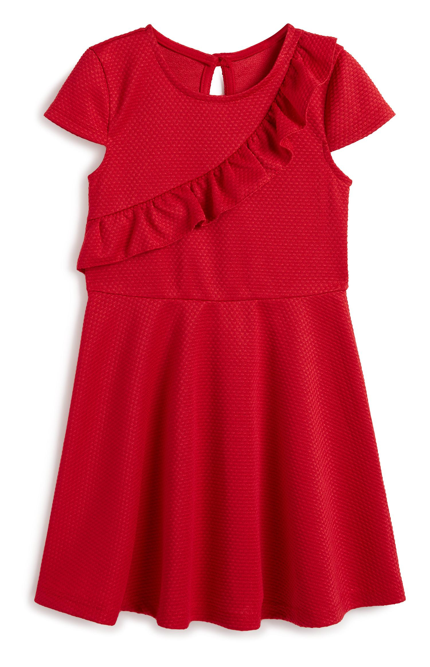 Younger Girl Red Frill Dress