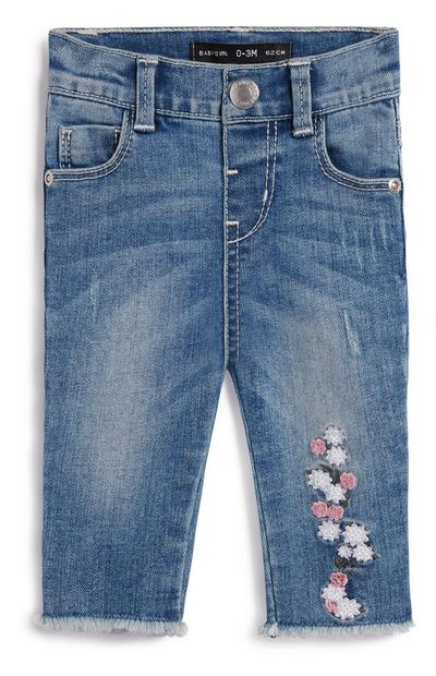 Baby Girl Floral Jeans
