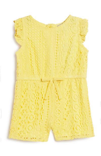 Baby Girl Yellow Playsuit