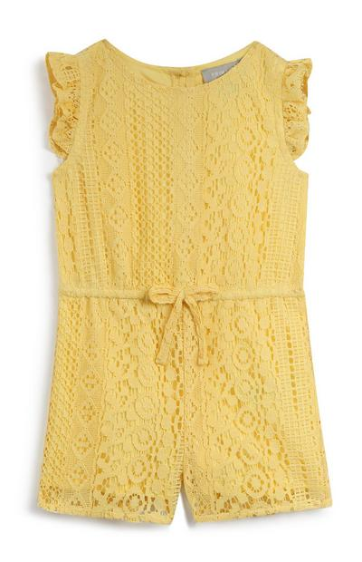 Baby Girl Yellow Playsuit