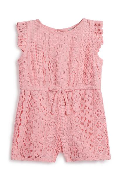 Baby Girl Pink Playsuit