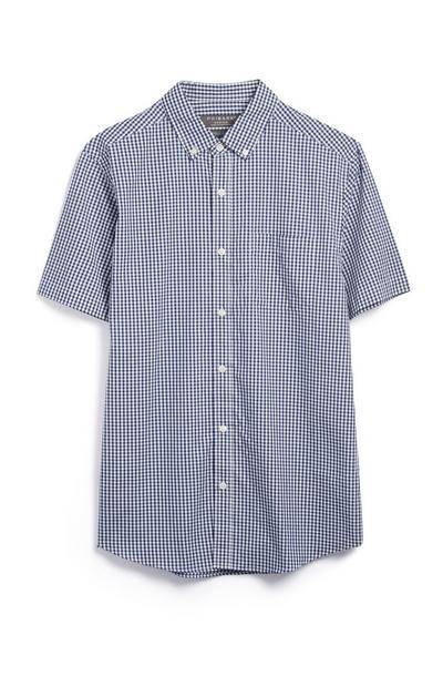Kurzärmliges Hemd mit Vichy-Muster