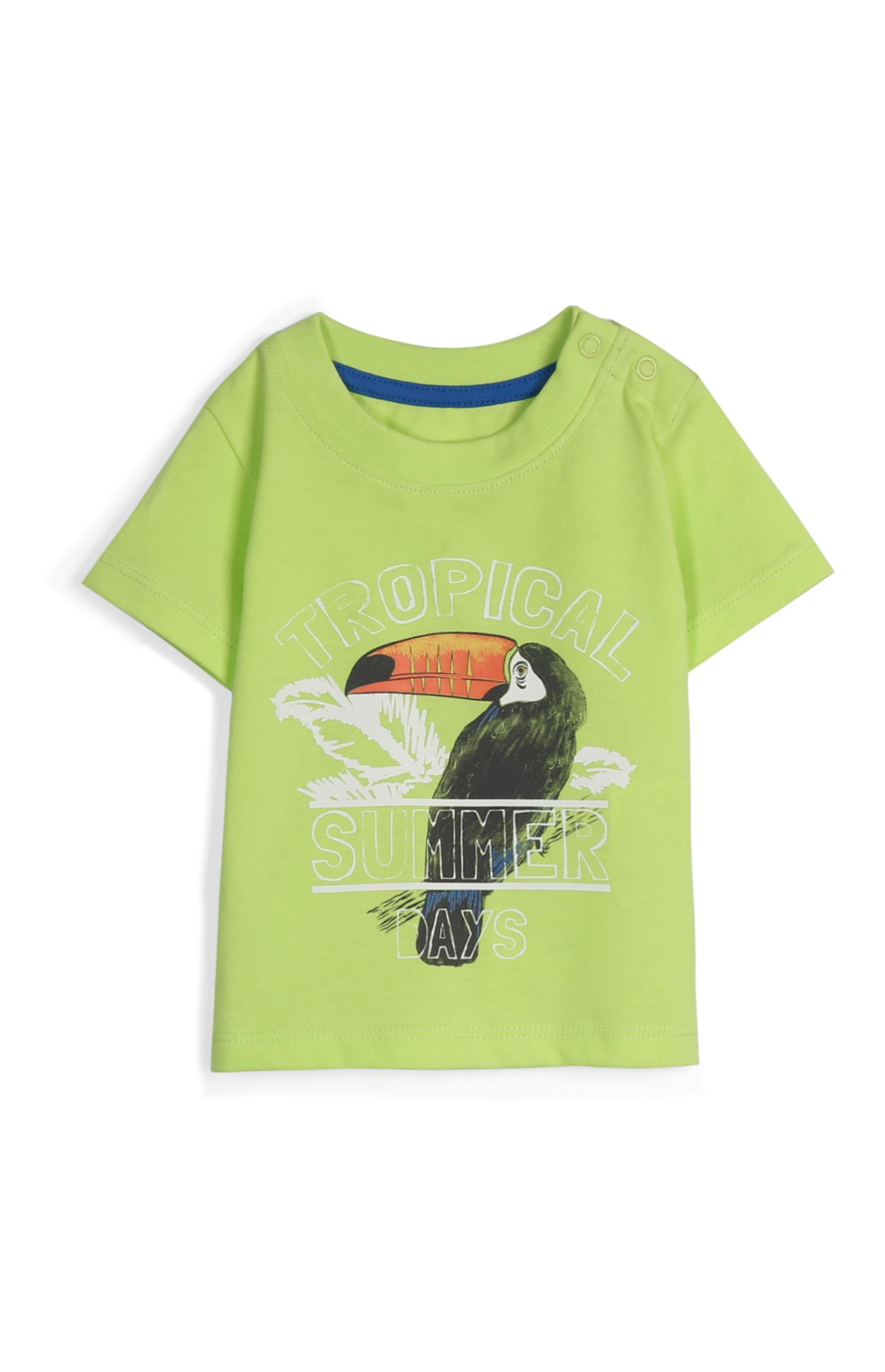 T-shirt citron vert perroquet bébé garçon