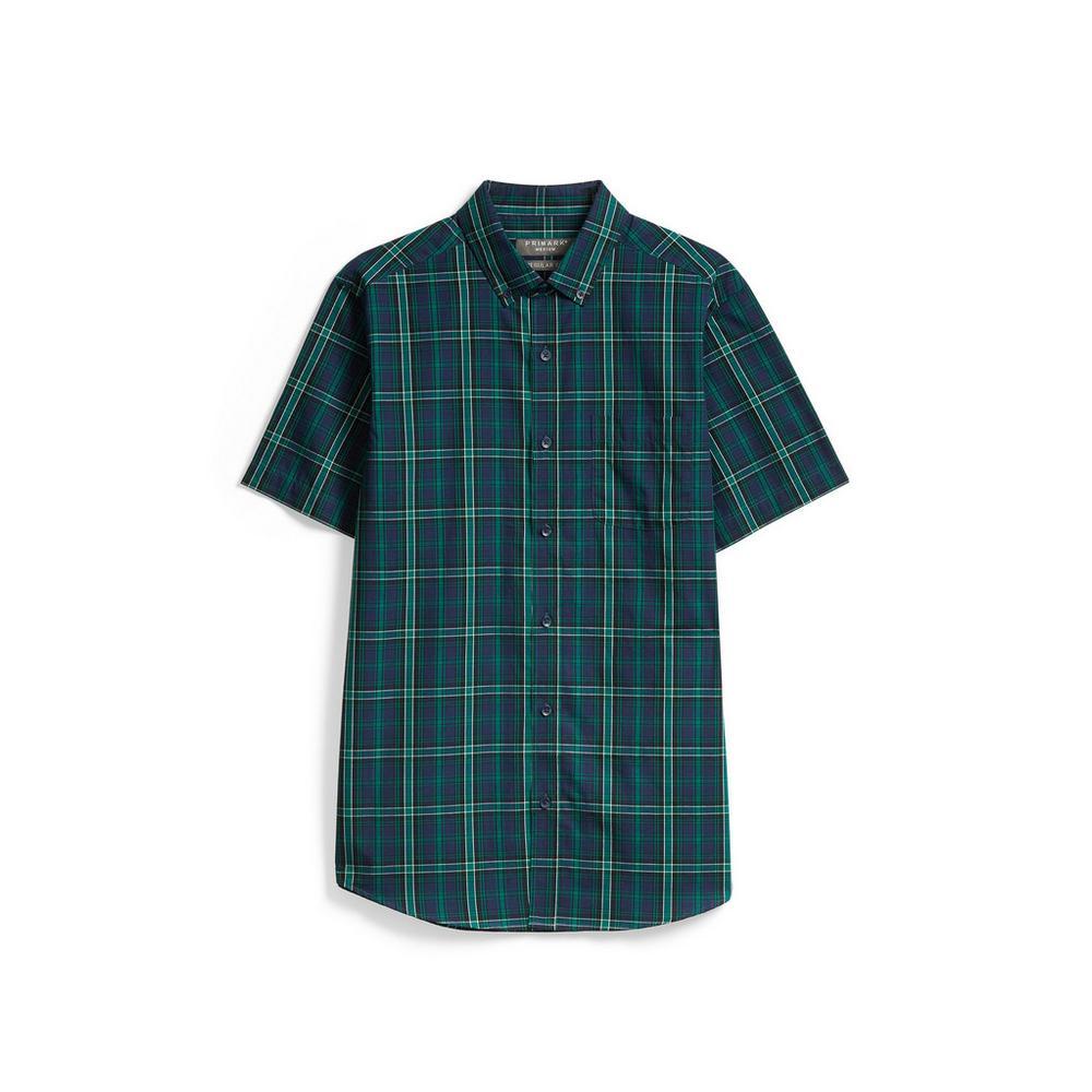 on sale 921e0 7f187 Camicia verde a quadri | Maniche corte | Camicie | Uomo ...