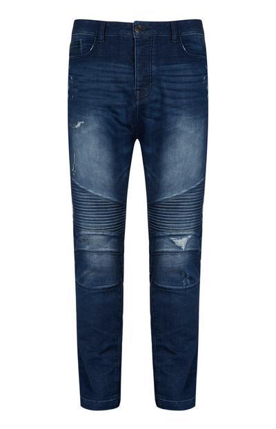 Dark Wash Skinny Biker Jean