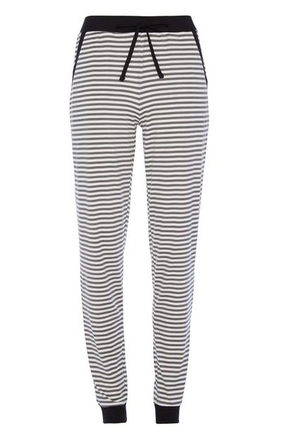 Black Stripe Pyjama Trouser