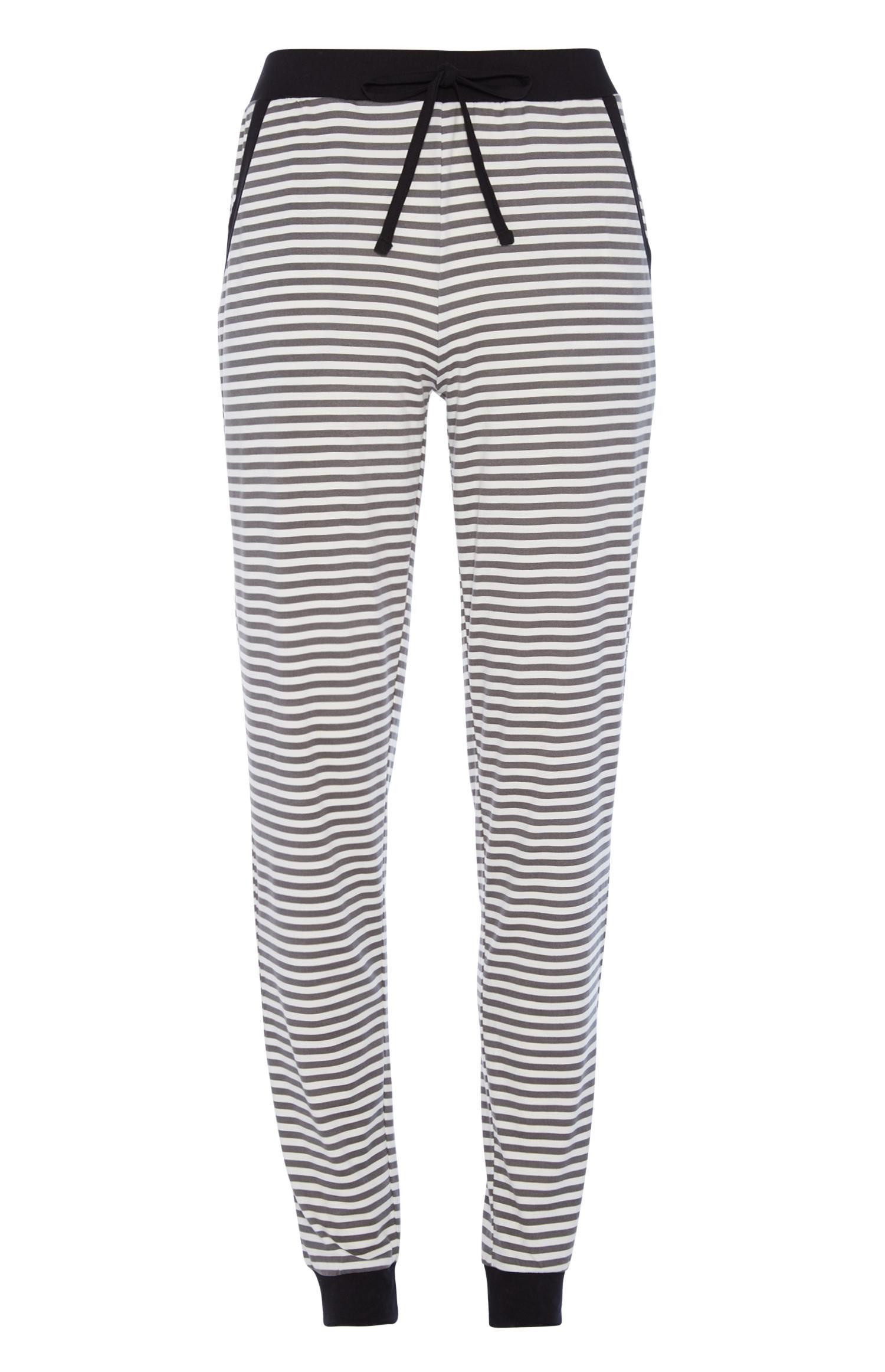 Black Stripe Pyjama Trouser